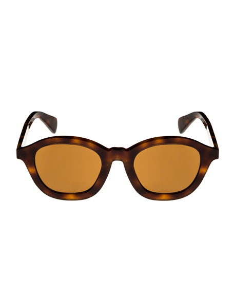 Round Acetate International-Fit Sunglasses