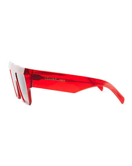 Bold Angular Acetate Sunglasses
