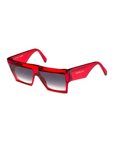 Bold Angular Acetate Sunglasses