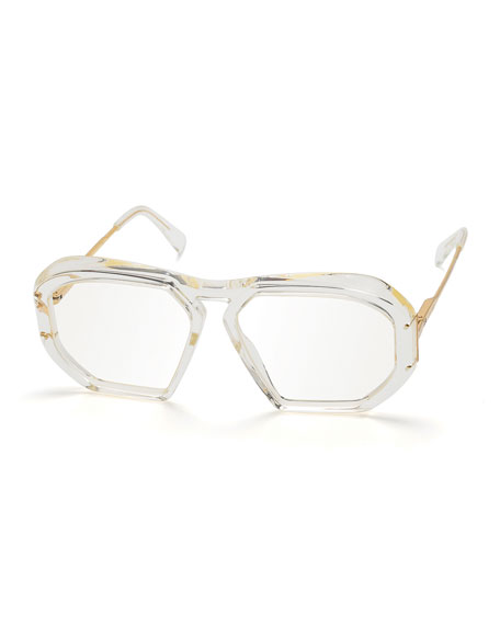 Celine Square Transparent Acetate Sunglasses
