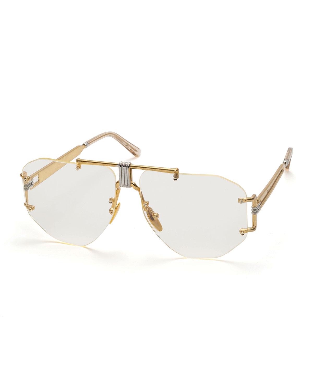 9aac8e45c2b6 Celine Rimless Aviator Sunglasses