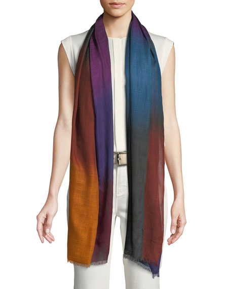 Vivace Unique Colorblock Cashmere Stole