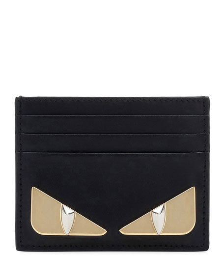 Fendi Shiny Monster Calf Leather Liberty Card Case