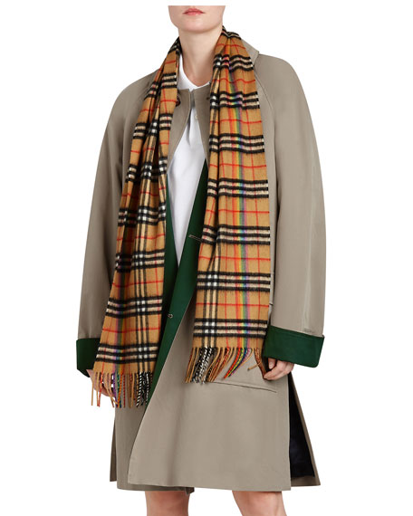 Pink Cashmere Classic Check Scarf Burberry tQKVG