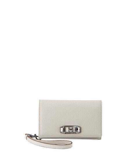 Rebecca Minkoff Lovelock Leather Wristlet Phone Bag -