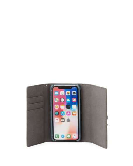 Lovelock Leather Wristlet Phone Bag - iPhone X