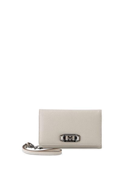 Rebecca Minkoff Lovelock Leather Wristlet Phone Bag -