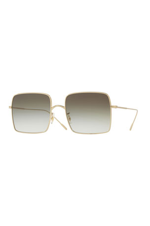 Oliver Peoples Rassine 56 Square Metal Sunglasses