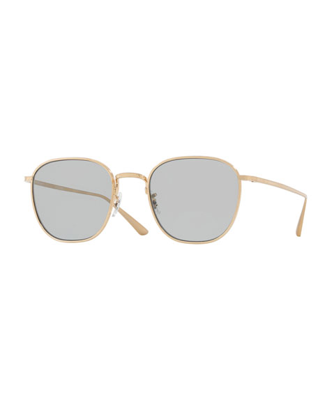Oliver Peoples Board Meeting Square Photochromic Titanium