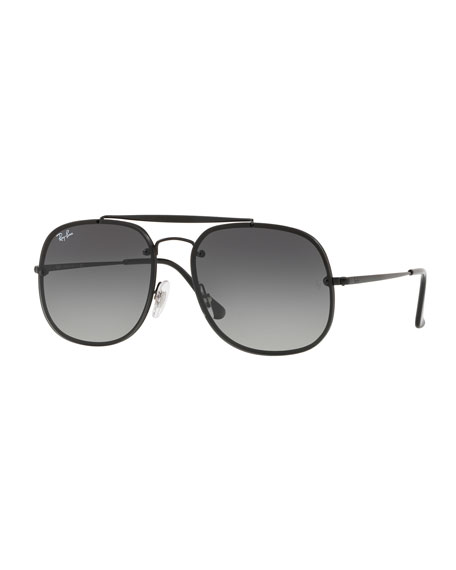Ray-Ban General Blaze Lens-Over-Frame Square Sunglasses