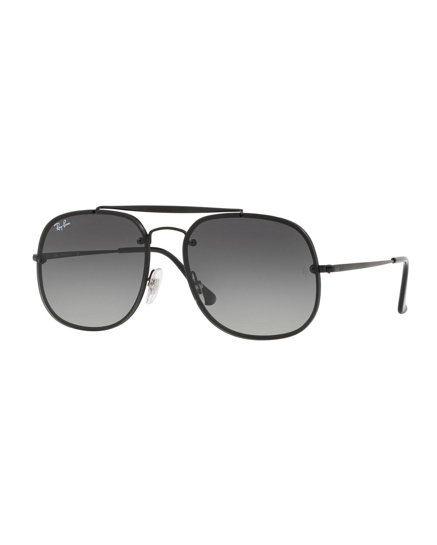 6835311f6b8 Ray-Ban General Blaze Lens-Over-Frame Square Sunglasses