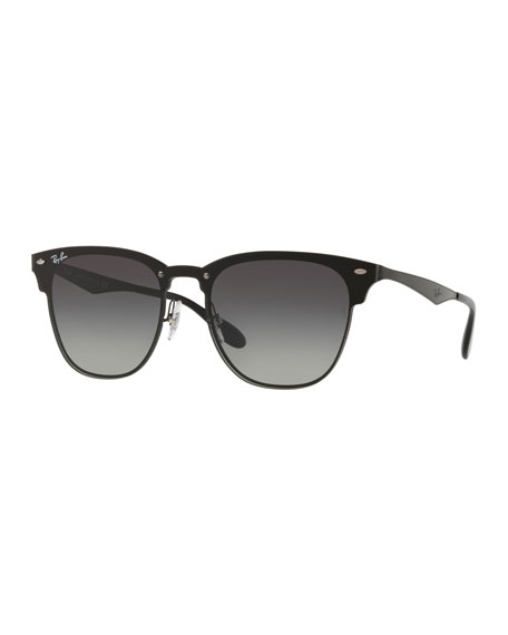 Ray-Ban Blaze Clubmaster Lens-Over-Frame Sunglasses