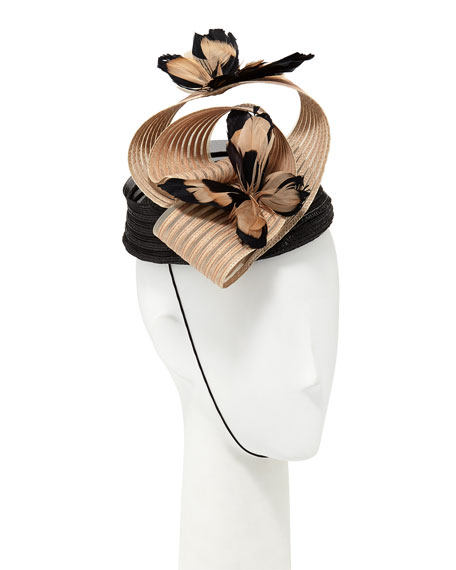 Fascinator Hat w/ Feather Butterflies