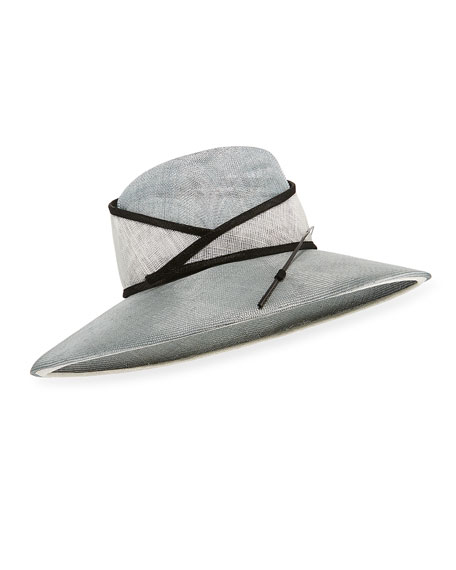 Marzi Two-Tone Large Brim Stick Hat