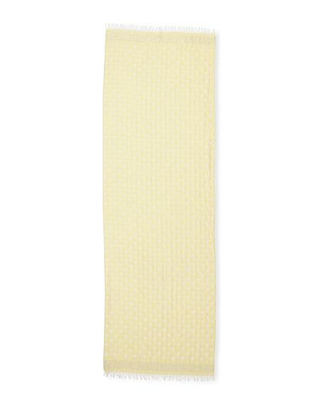 Polka Dot Cotton-Blend Scarf