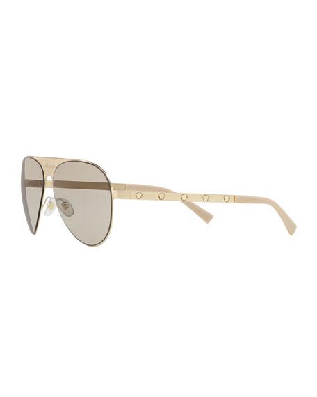 Monochromatic Aviator Sunglasses