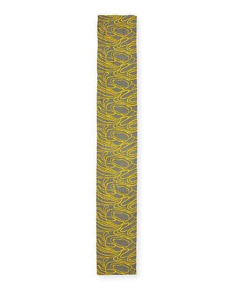 Ribbons Print Along Viscose Scarf