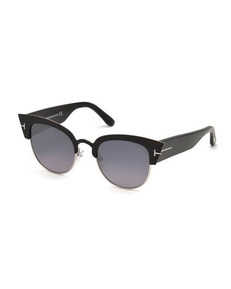 TOM FORD Alexandra Semi-Rimless Cat Eye Sunglasses