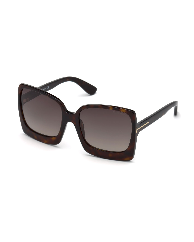 7a3fea11385 TOM FORD Katrine 02 Square Plastic Sunglasses