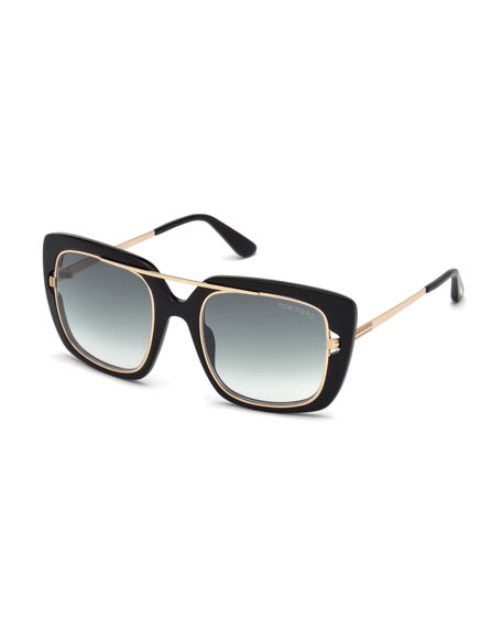 Marissa 02 Double Frame Square Sunglasses