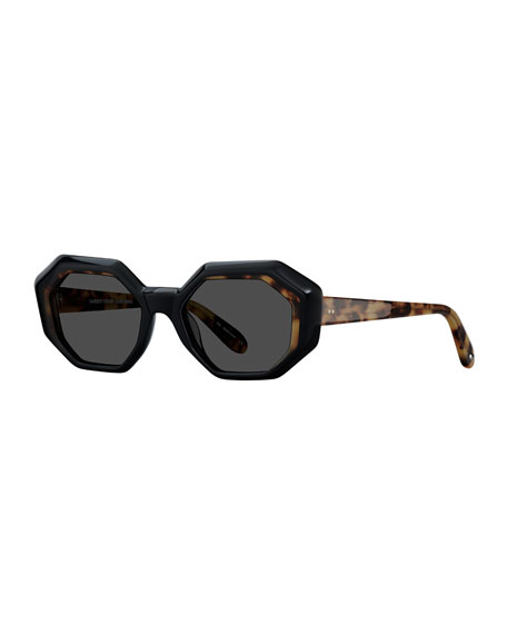 Garrett Leight Jacqueline Octagon Acetate Sunglasses
