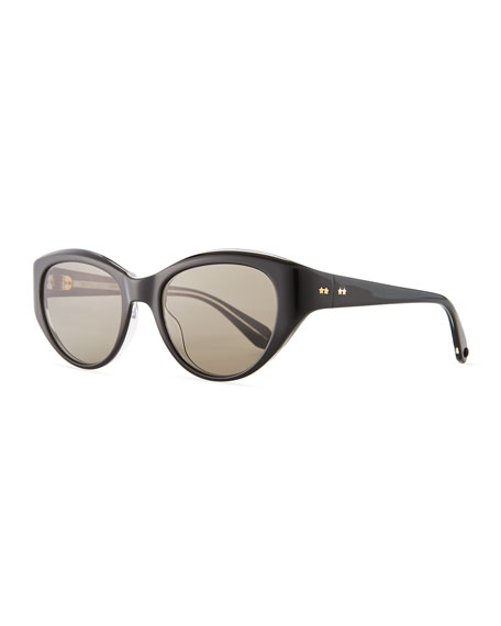 Garrett Leight Del Rey Wraparound Cat-Eye Sunglasses