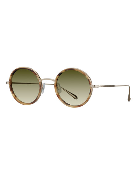 GARRETT LEIGHT Silver Beaumont Aviator Sunglasses J5Qbub