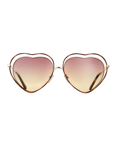 Poppy Love Heart-Shaped Sunglasses