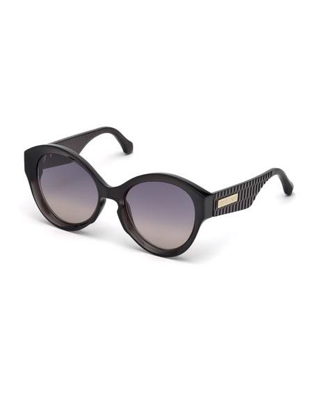 Roberto Cavalli Gradient Round Sunglasses