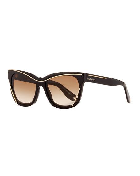 Givenchy Square Metal-Trim Sunglasses