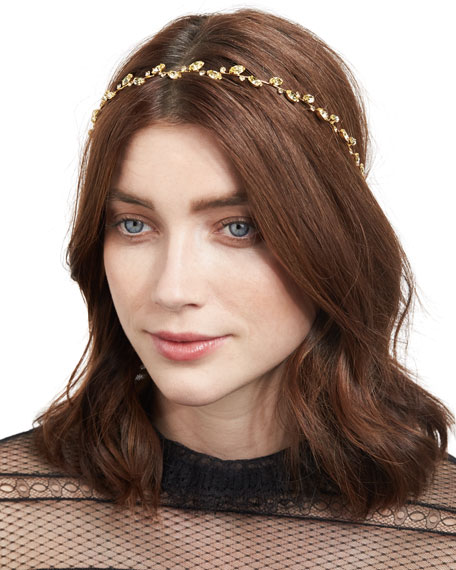 Jennifer Behr Carolina Leaf Circlet Headband