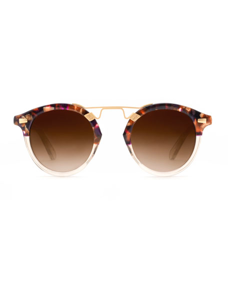 STL II Round Two-Tone Gradient Sunglasses