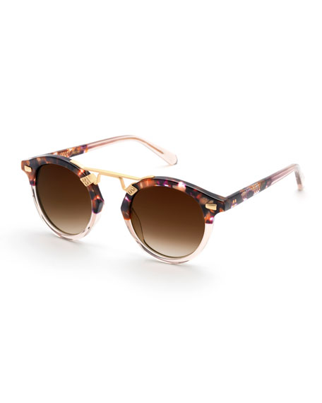 KREWE STL II Round Two-Tone Gradient Sunglasses