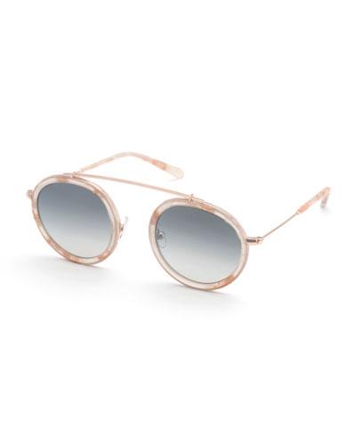 Conti Round Mirrored Sunglasses