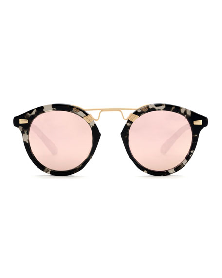 STL II Round Mirrored Sunglasses