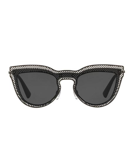 Metal Mesh Cat-Eye Sunglasses
