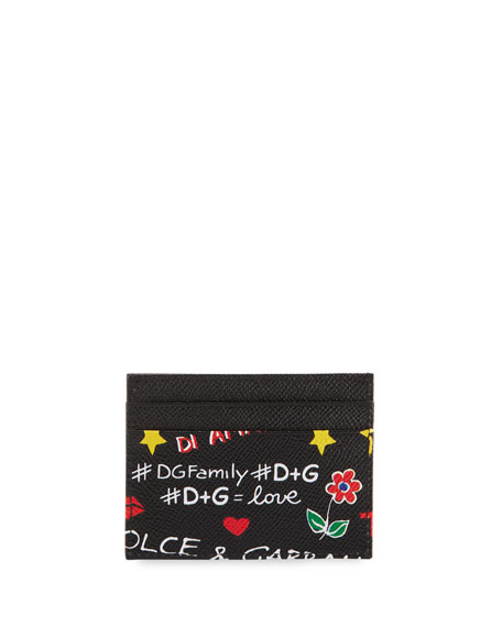 DG Graffiti Leather Card Case