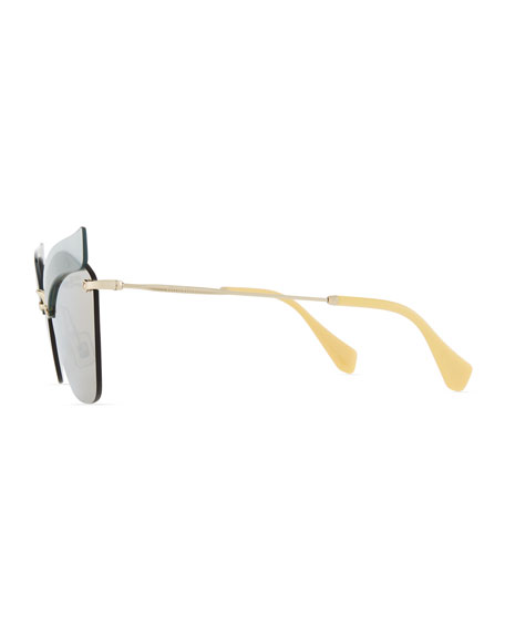 Rimless Butterfly Metal Sunglasses