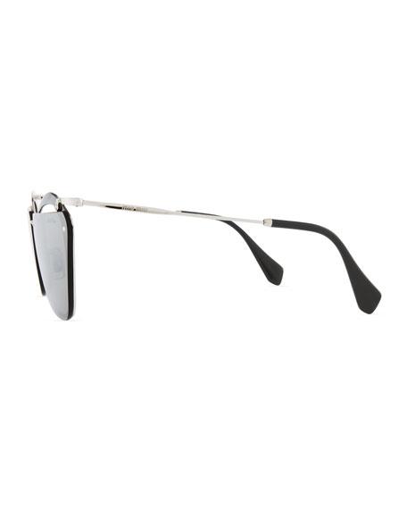 Flattop Cutout Butterfly Sunglasses