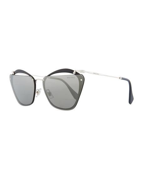 Miu Miu Flattop Cutout Butterfly Sunglasses