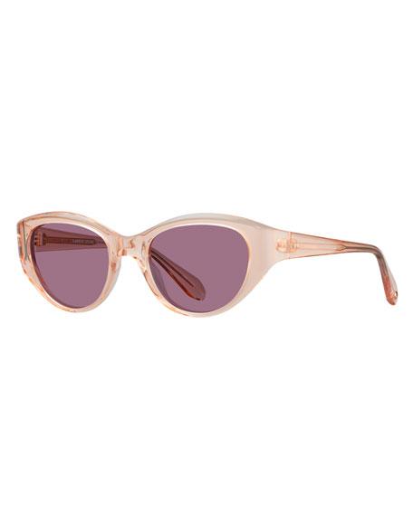 Garrett Leight Del Rey Wraparound Cat-Eye Sunglasses