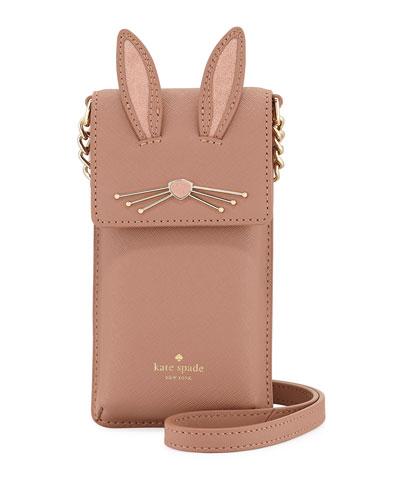 rabbit north south phone crossbody bag