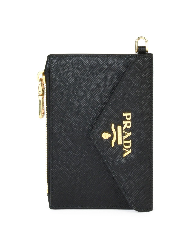 2782ba91ee10 Prada Saffiano Envelope Mini Wallet