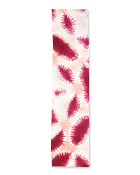 Shibori Silk Fauna Scarf