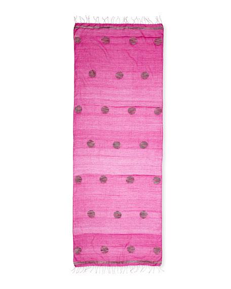 Jamdani Hand-Loomed Dot Silk/Linen Scarf