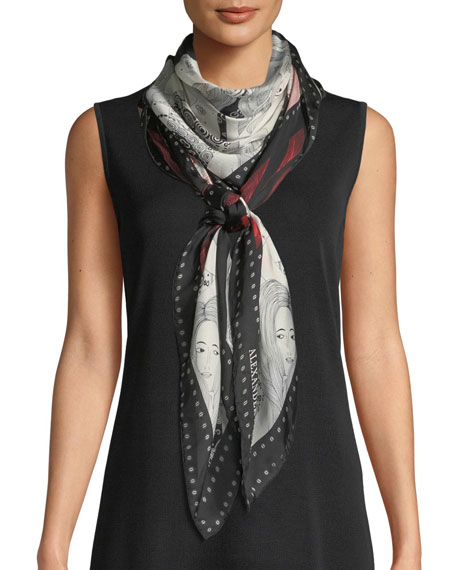 Eve Of Harness Silk Satin Scarf