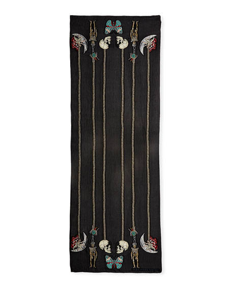 St. Renaissance Charm Silk Scarf
