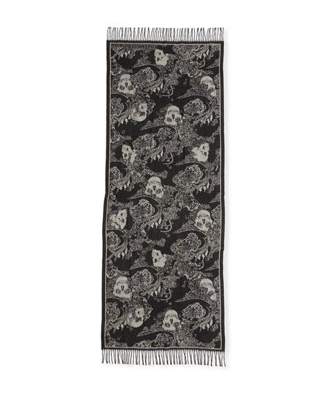 St. Dreaming Skulls Wool-Blend Scarf
