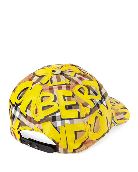 Graffiti Marker Logo Check Baseball Cap