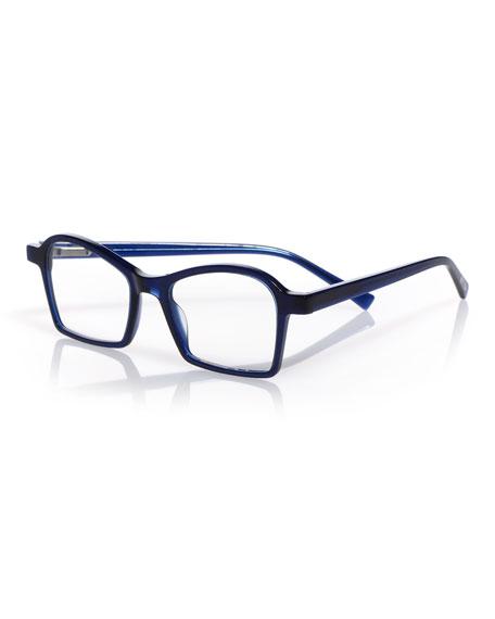 Sparkler Square Reading Glasses in Blue